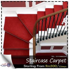 Staircase carpet to give modern look to stairs