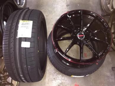 Sport rim RAYS G25 siap tyre 18