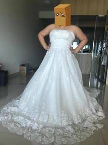 Full Lace Wedding Gown with Long Trail
