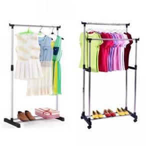 Single / double clothes hanger 10
