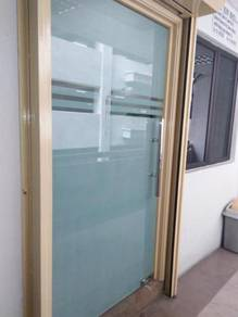 PINTU KACA KALIS PECAH l tempered glass door