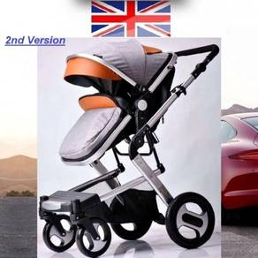 Britain High Class 2WAY FACING Baby Stroller Jogge