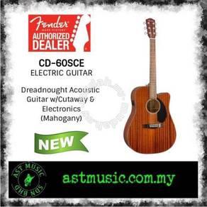 Fender cd60sce Semi Acoustic Guitar-All Mahogany
