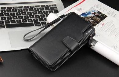 New Casual Business Luxury Man Long Wallet (Black)
