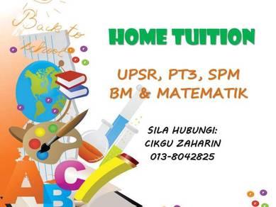 Home tutor/ tuition/ tuisyen