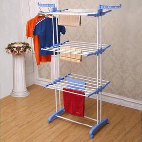 3 Layer Clothes Hanger Drying Rack Portable Foldab