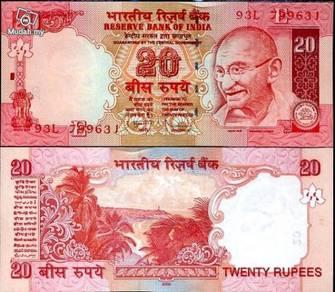 India 20 rupees 2009 p new unc