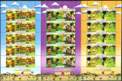 Mint Stamp Sheetlet Upin Ipin Malaysia 2010