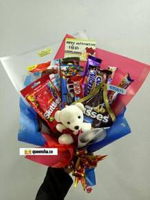 Chocolate and flower bouquet penang