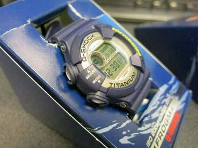 Casio G-Shock Frogman DW9900 titanium case blue re