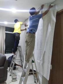 LABOUR INSTALL WALLPAPER l upah pasang wallpaper