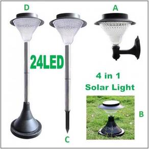 SIGNI Solar Powered 24 Led Outdoor GardenWallLight