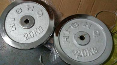 Weight Berat Stack Plate Dumbbell Barbell 20KG