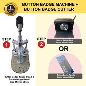 Button Badge Machine + Button Badge Cutter