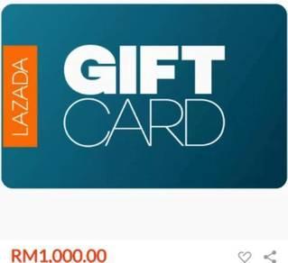 Gift card rm 1000 la za da