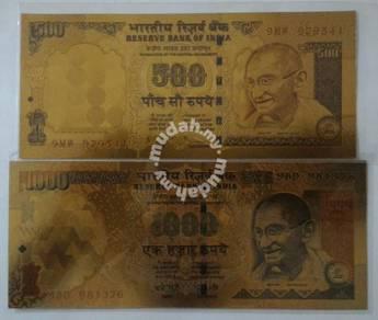 Gandhi gold souvenir note