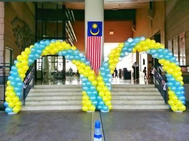 Double Arch Balloon Entrance 00262