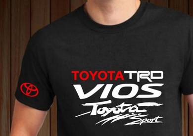 Baju T-Shirt TOYOTA VIOS TRD NSQ62 siap poslaju