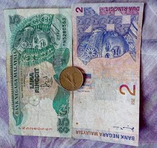 Duit lama RM5,RM2,dan syiling Rm1 untuk di jual