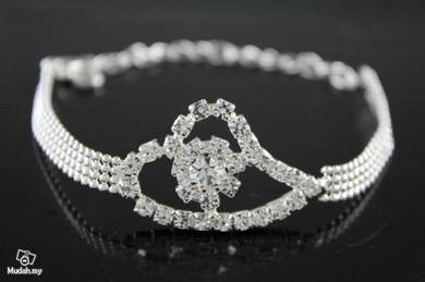 ABBSM-C003 Swell Cz Crystal Bridal Wedding Bracele