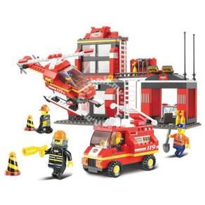 Sluban Fire Engine Blocks 371 pcs Compatible