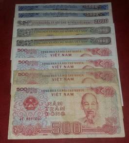 Wang Kertas Lama Vietnam (9pcs)