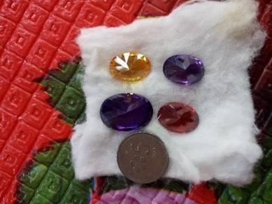 Batu permata, cincin,loket, delima,serai, kecubung