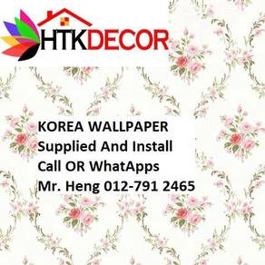 3D Korea Wall paper with Installation BTRB