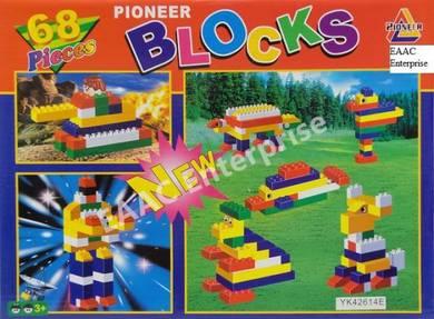 68pcs Pioneer Lego Building Blocks baby toys