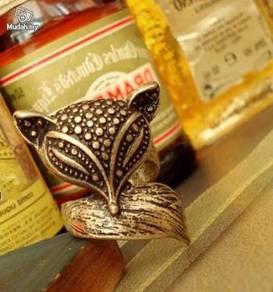 ABRB-F002 Bronzed Vintage Little Cute Fox Ring 6