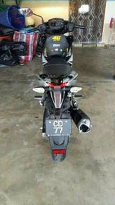 2017 Yamaha Y15ZR Motorcycle sekali Number plate.