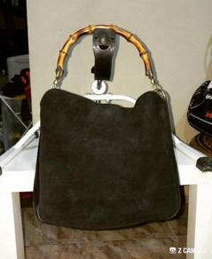 Tote Bag Gucci Bamboo Suede Leather