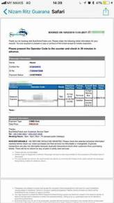 3pcs.Bus tickets from TBS to Penang in 16/2/2018