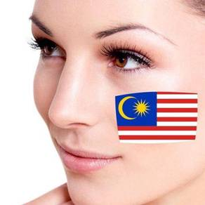 MALAYSIA National Flag Tattoo Sticker