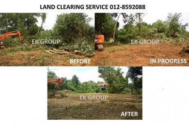 Clearing rumput pokok timbus tanah