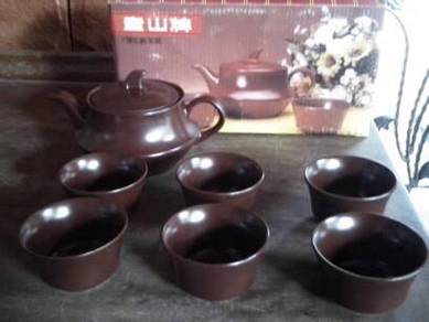 (TYPE E) TEA SET CLAY BROWN ANTIK 90s