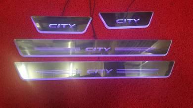 Honda city led sill scuff plate led steel plate