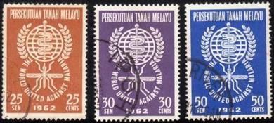Use-d stamp Malaria Eradication Malaysia 1962