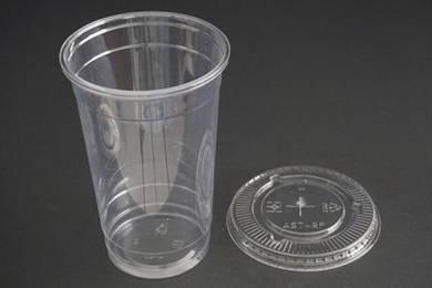 Cup minuman plastik 750ml dgn penutup leper
