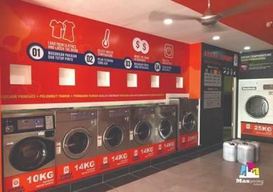 Wall Sticker Printing Laundry shop