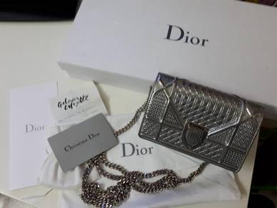 Authentic Dior Micro Cannage WOC silver