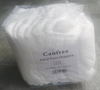 Adult diaper and pant; Lampin dewasa seluar pendek
