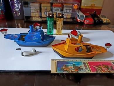 KAPAL PERANG WARSHIP Vintage Tin Toys 15CM
