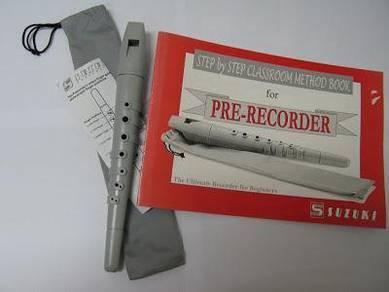 Suzuki PRE1 Pre Recorder and Classroom Method Book