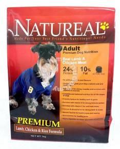 1kg Natureal adult premium dog food - Lamb & Rice