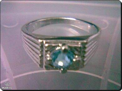 ABRWG-B007 Rare White Gold Filled Ring - Size 7.5