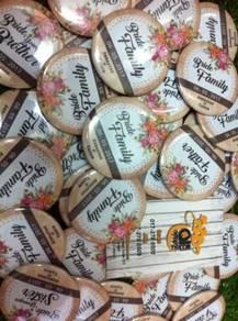 Tempahan Pin Button Badge Majlis Kahwin