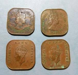 Malaya Old Coins 1 Cent Set