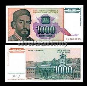 Yugoslavia 1,000 dinara 1994 p 140 unc