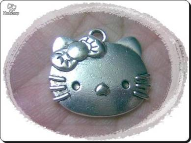 ABPSM-C013 Silver Cat Hello Kitty Pendant Necklace